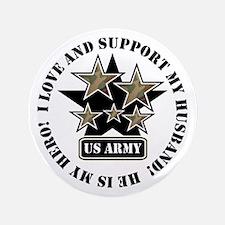 "US Army Husband Stars 3.5"" Button"