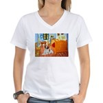 Room / Brittany Women's V-Neck T-Shirt