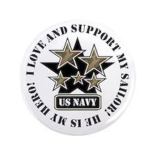 """US NAVY SAILOR STARS 3.5"""" Button"""