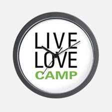 Live Love Camp Wall Clock