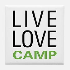 Live Love Camp Tile Coaster