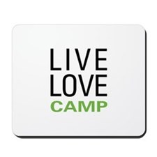 Live Love Camp Mousepad