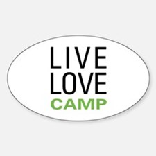 Live Love Camp Sticker (Oval)