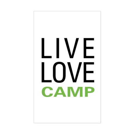 Live Love Camp Sticker (Rectangle)