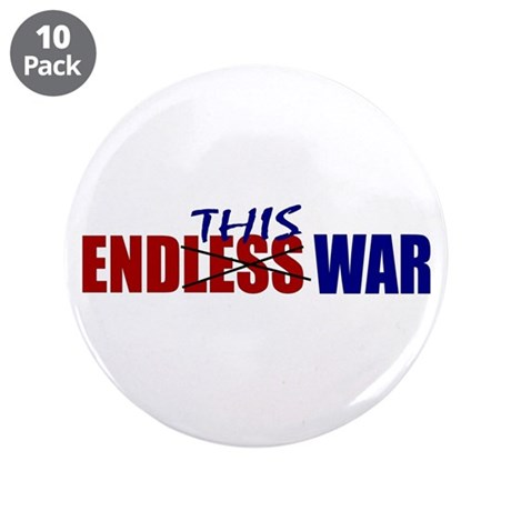 """End This War 3.5"""" Button (10 pack)"""