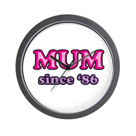 Mum Since 1986 Mother's Day Wall Clock