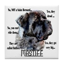 Mastiff(fluffy)FAQ Tile Coaster