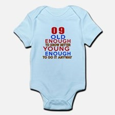 09 Old Enough Young Enough Birthda Onesie
