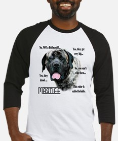 Mastiff(brindle)FAQ Baseball Jersey