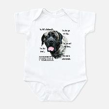 Mastiff(brindle)FAQ Infant Bodysuit