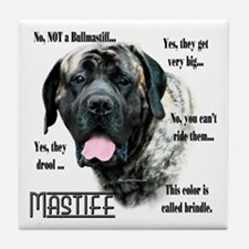 Mastiff(brindle)FAQ Tile Coaster