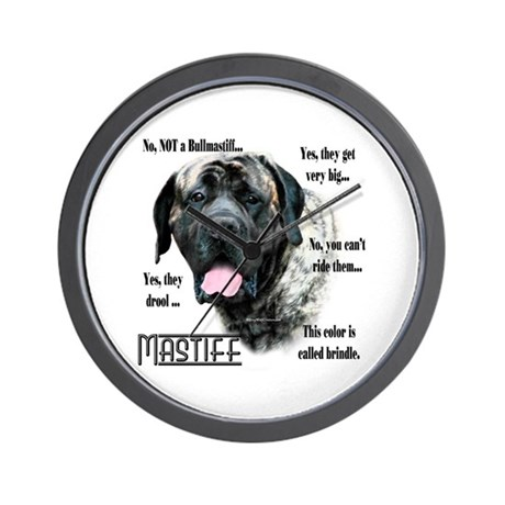 Mastiff(brindle)FAQ Wall Clock