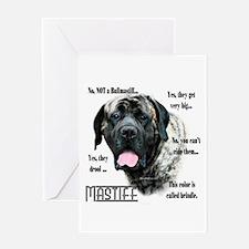 Mastiff(brindle)FAQ Greeting Card