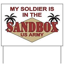 Soldier Sandbox US Army Yard Sign