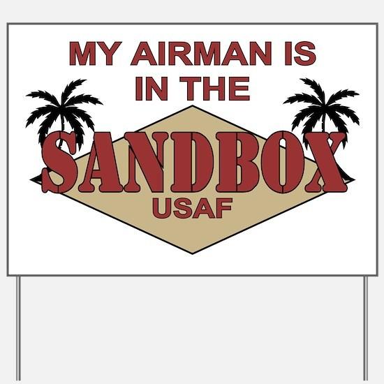 My Airman is in the Sandbox - Yard Sign