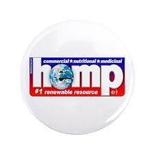 "Hemp: Earth's #1 Resource Log 3.5"" Button"