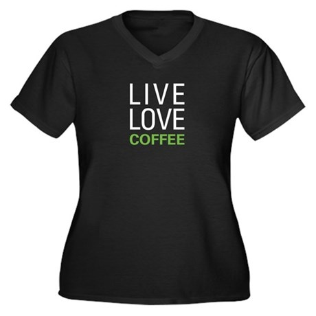 Live Love Co Women's Plus Size V-Neck Dark T-Shirt