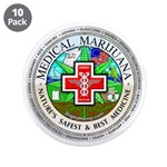 "Medical Marijuana 3.5"" Button (10 pack)"