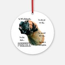 Mastiff(apricot)FAQ Ornament (Round)