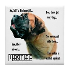 Mastiff(apricot)FAQ Tile Coaster