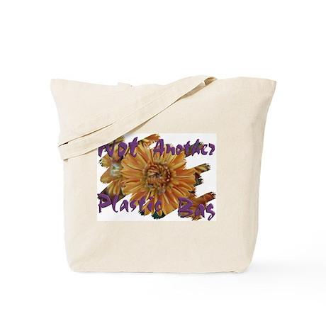 """Not Plastic"" Fall Mums Tote Bag"
