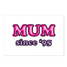 Mum Since 1995 Mother's Day Postcards (Package of