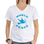 World Peace, Peace and Love. Women's V-Neck T-Shir
