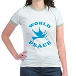 World Peace, Peace and Love. Jr. Ringer T-Shirt