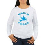 World Peace, Peace and Love. Women's Long Sleeve T