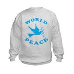 World Peace, Peace and Love. Kids Sweatshirt