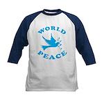World Peace, Peace and Love. Kids Baseball Jersey