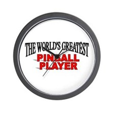 """The World's Greatest Pinball Player"" Wall Clock"