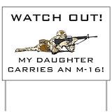 Proud army dad Yard Signs