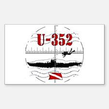 U-352 Dive Rectangle Decal