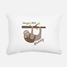 Hanging With Mommy Rectangular Canvas Pillow