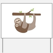 Sloths In Tree Yard Sign