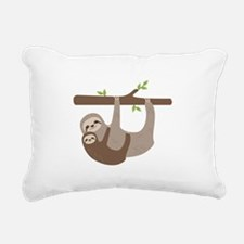 Sloths In Tree Rectangular Canvas Pillow