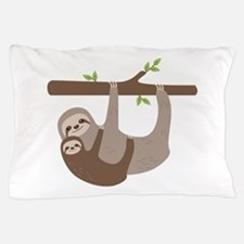 Sloths In Tree Pillow Case