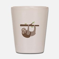 Sloths In Tree Shot Glass