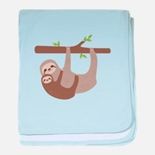Sloths In Tree baby blanket