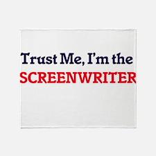 Trust me, I'm the Screenwriter Throw Blanket