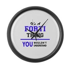 It's FORTI thing, you wouldn't un Large Wall Clock
