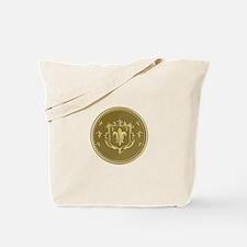 Fleur de lis Coat of Arms Gold Coin Retro Tote Bag