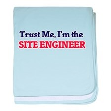 Trust me, I'm the Site Engineer baby blanket
