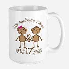 17th Anniversary Love Monkeys Mugs