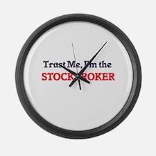 Trust me, I'm the Stockbroker Large Wall Clock