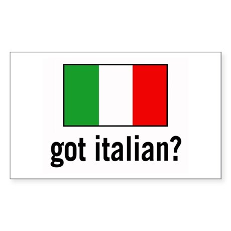 got italian? Rectangle Sticker