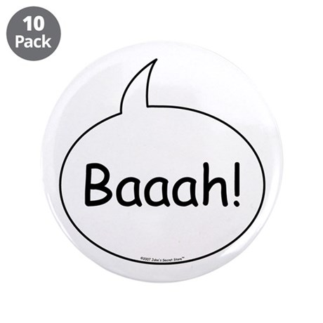 """Sheep Costume 3.5"""" Button (10 pack)"""