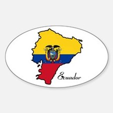 Cool Ecuador Oval Decal