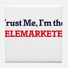 Trust me, I'm the Telemarketer Tile Coaster